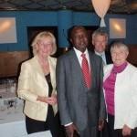 Middag med Ugandas Ambassadör