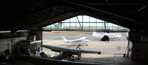 Hangaren på Wilson Airport