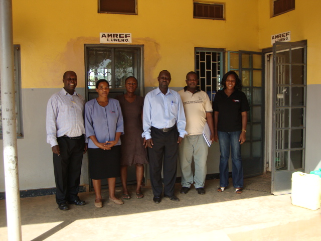 AMREFs team i Luweero
