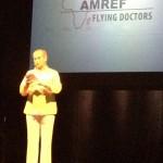Kersti Adams-Ray presenterar AMREF på Maishagalan 2012